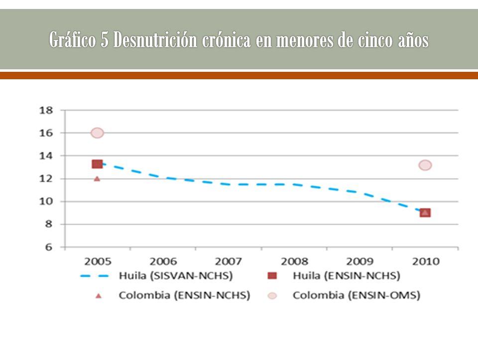 Gráfico 5 Desnutrición crónica en menores de cinco años