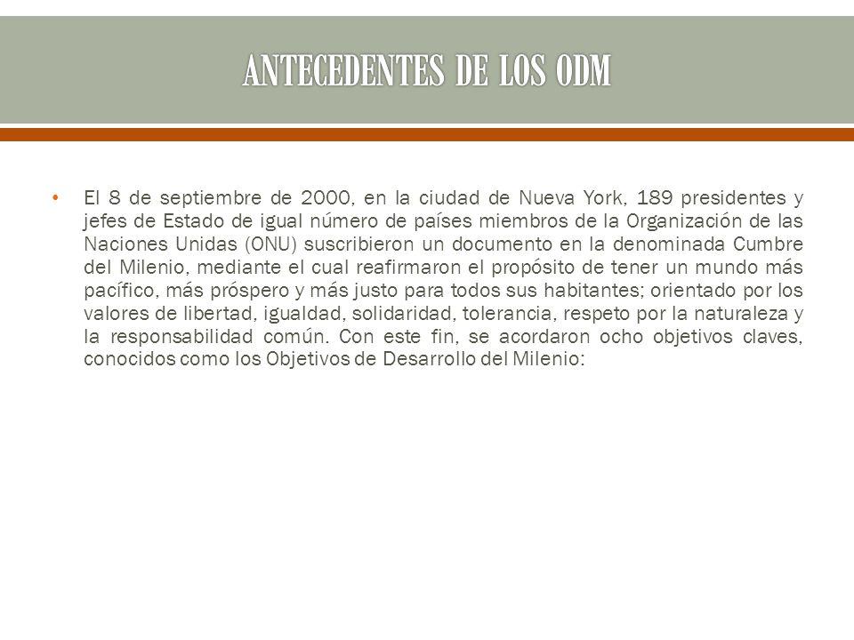 ANTECEDENTES DE LOS ODM