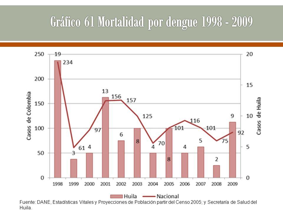 Gráfico 61 Mortalidad por dengue 1998 - 2009