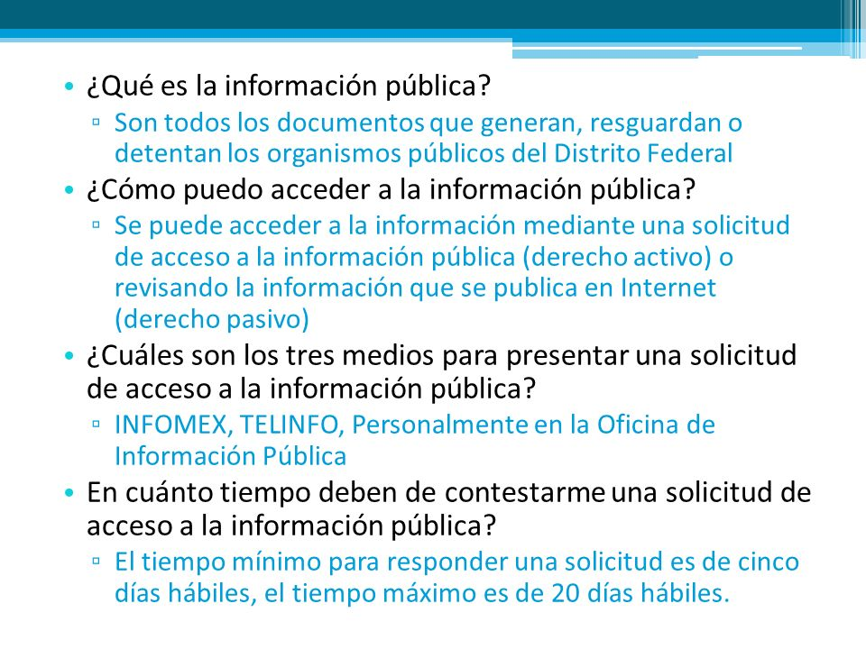 ¿Qué es la información pública