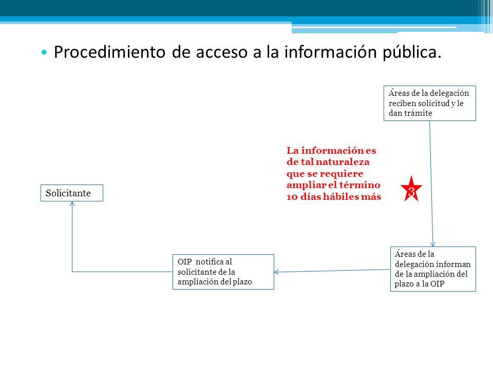 Procedimiento de acceso a la información pública.