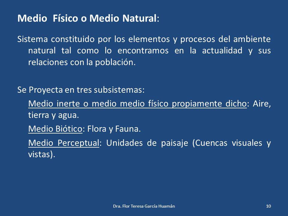 Medio Físico o Medio Natural: