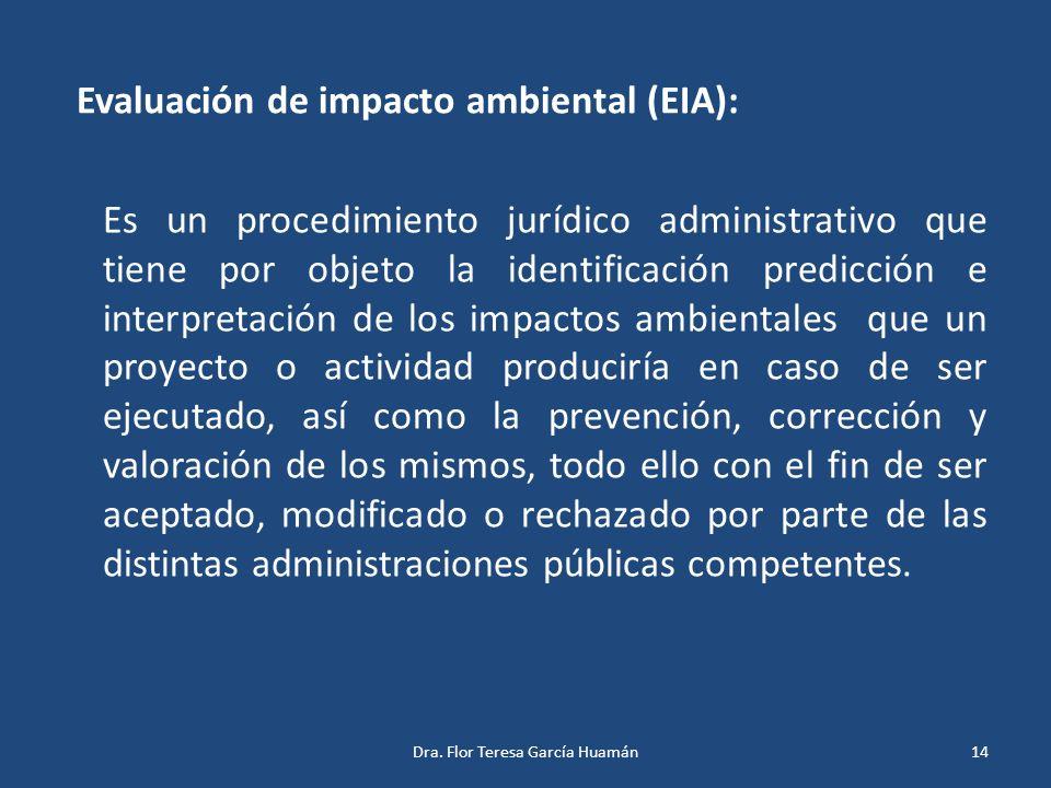 Evaluación de impacto ambiental (EIA):