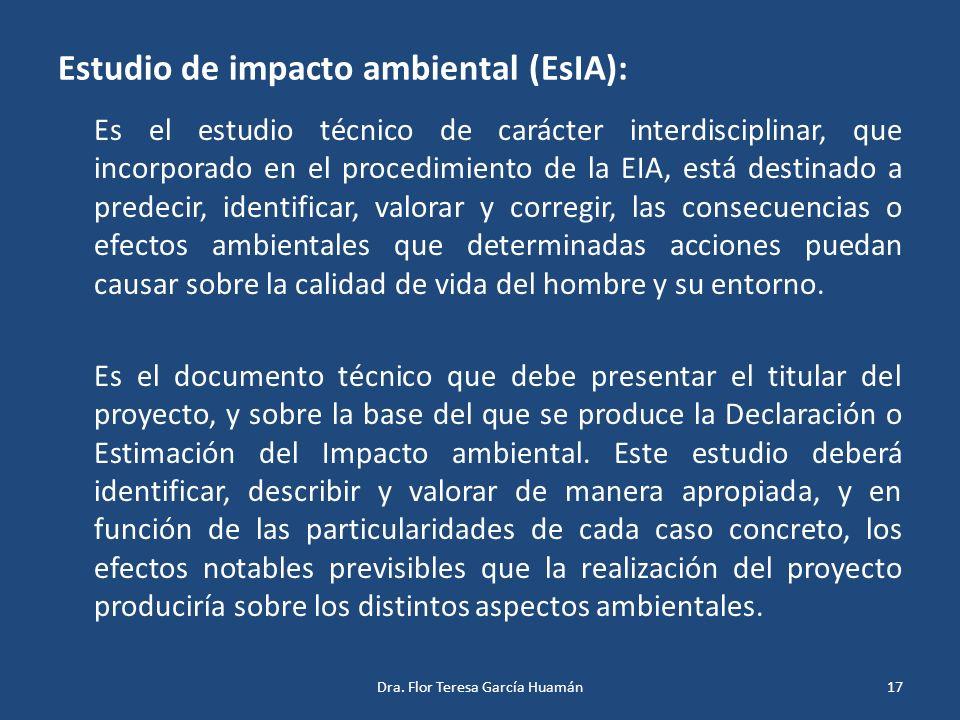 Estudio de impacto ambiental (EsIA):