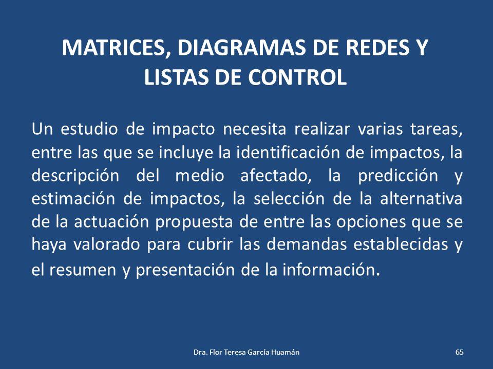 MATRICES, DIAGRAMAS DE REDES Y LISTAS DE CONTROL