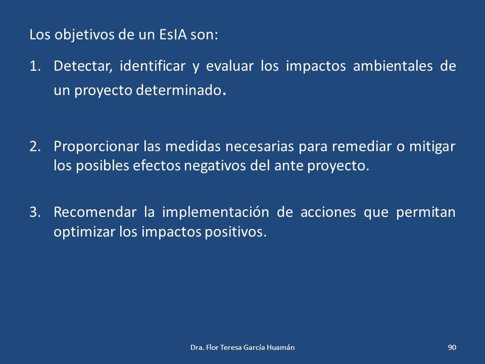 Los objetivos de un EsIA son: