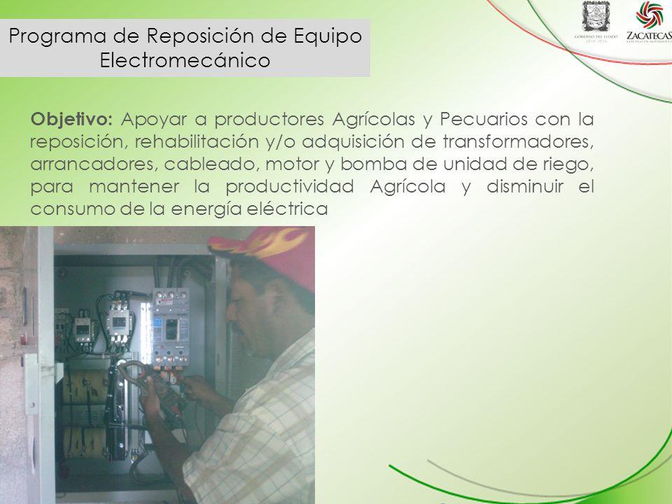 Programa de Reposición de Equipo Electromecánico