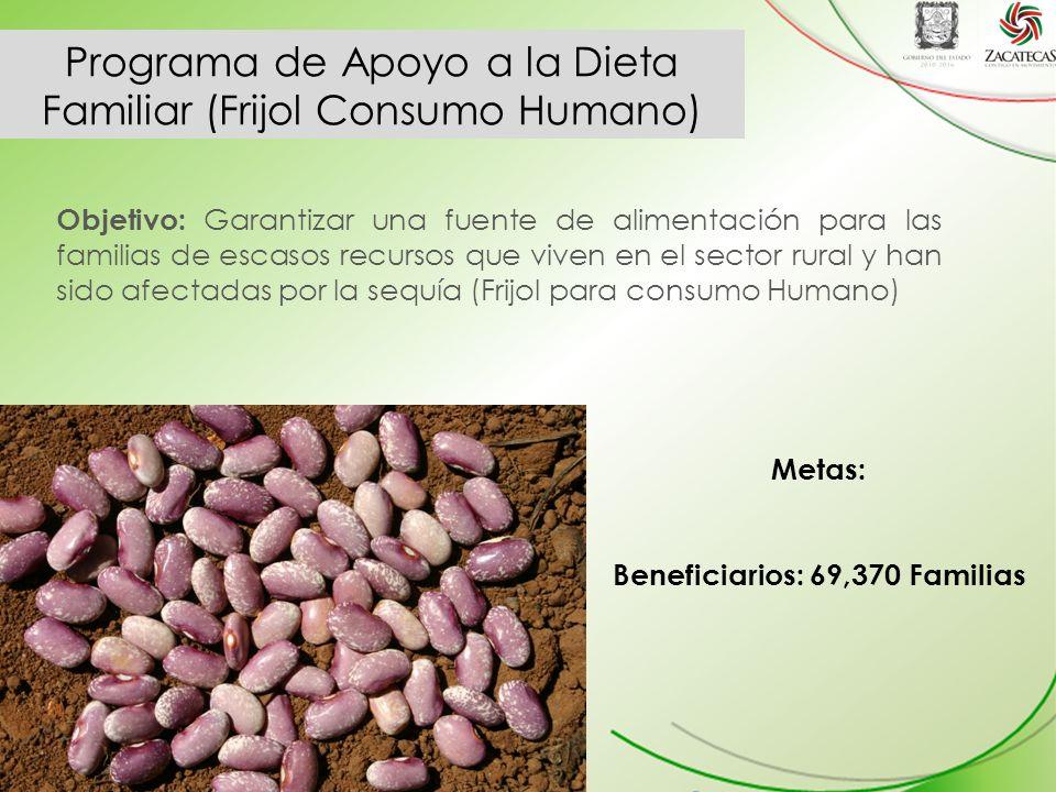 Programa de Apoyo a la Dieta Familiar (Frijol Consumo Humano)