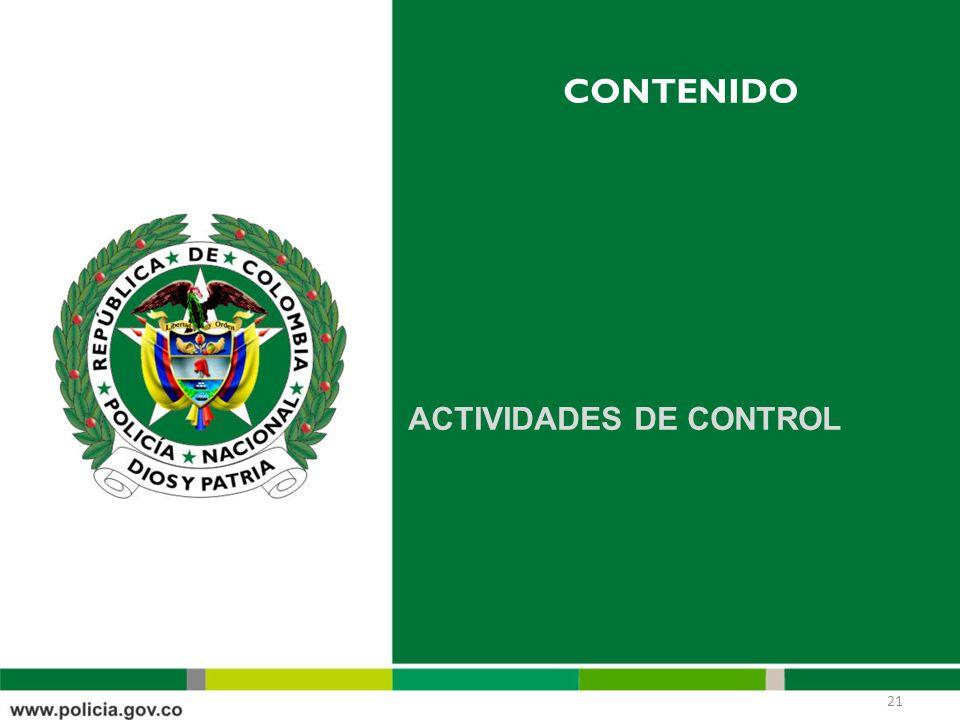 contenido ACTIVIDADES DE CONTROL