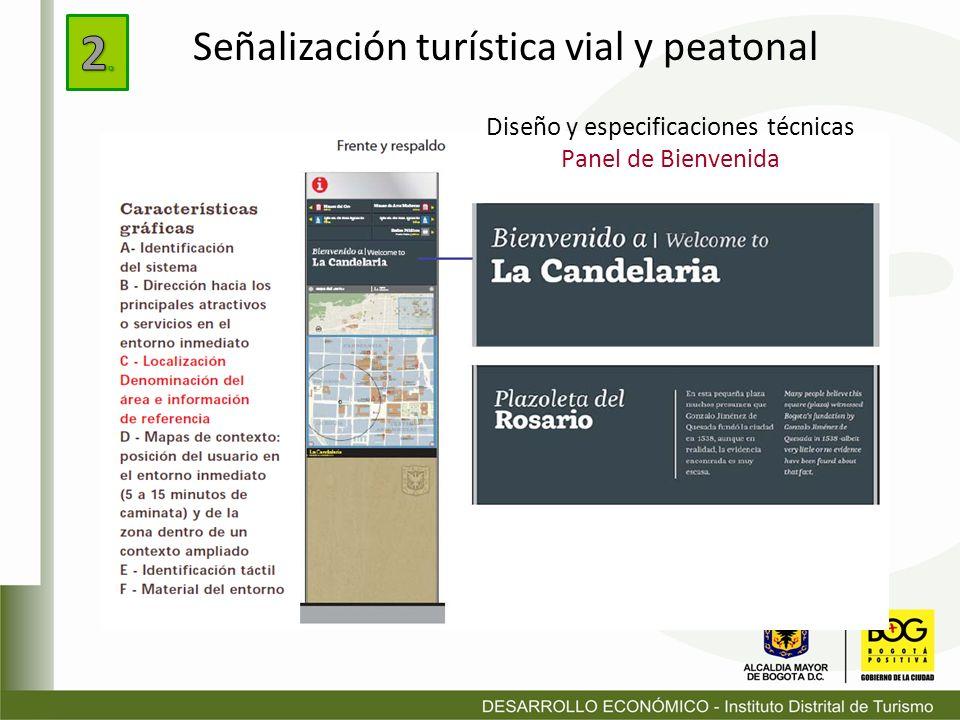Diseño y especificaciones técnicas Panel de Bienvenida