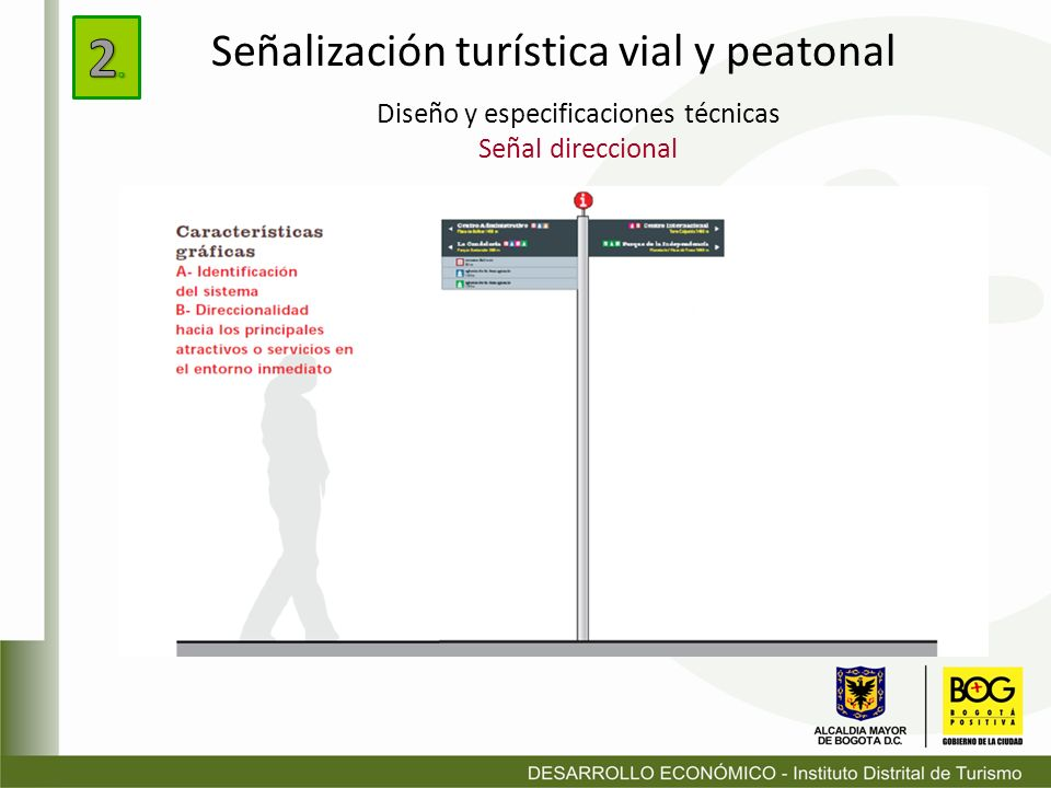 Diseño y especificaciones técnicas Señal direccional