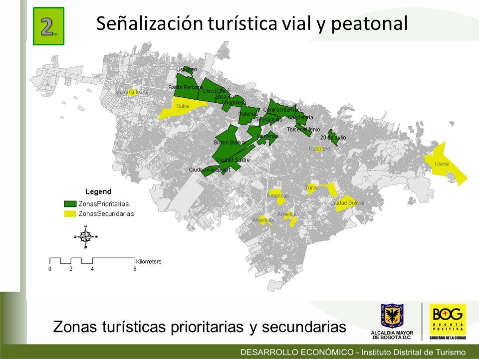 2. Señalización turística vial y peatonal