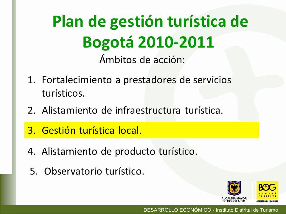 Plan de gestión turística de Bogotá 2010-2011