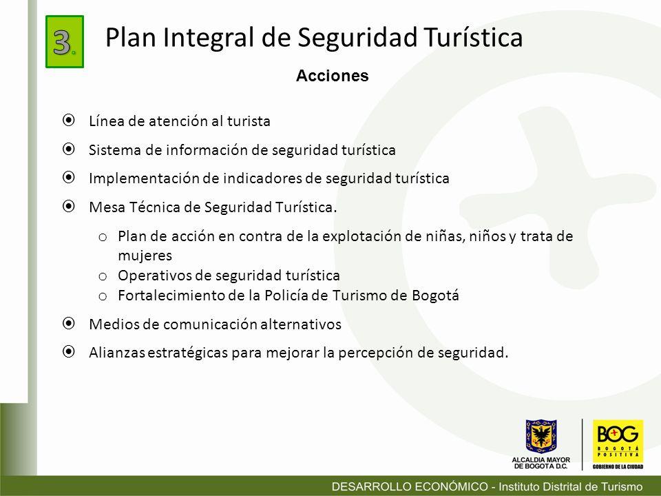 3. Plan Integral de Seguridad Turística Acciones