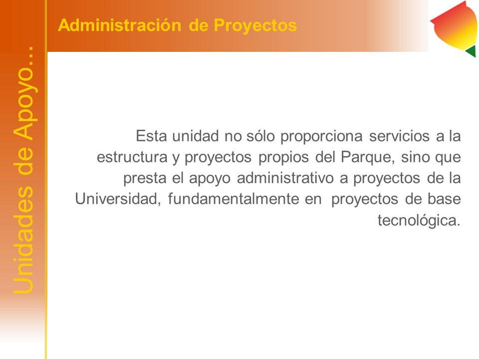 Unidades de Apoyo... Administración de Proyectos