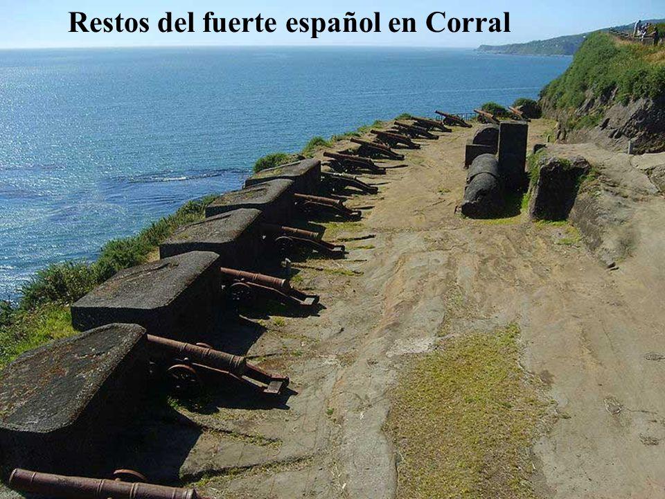 Restos del fuerte español en Corral