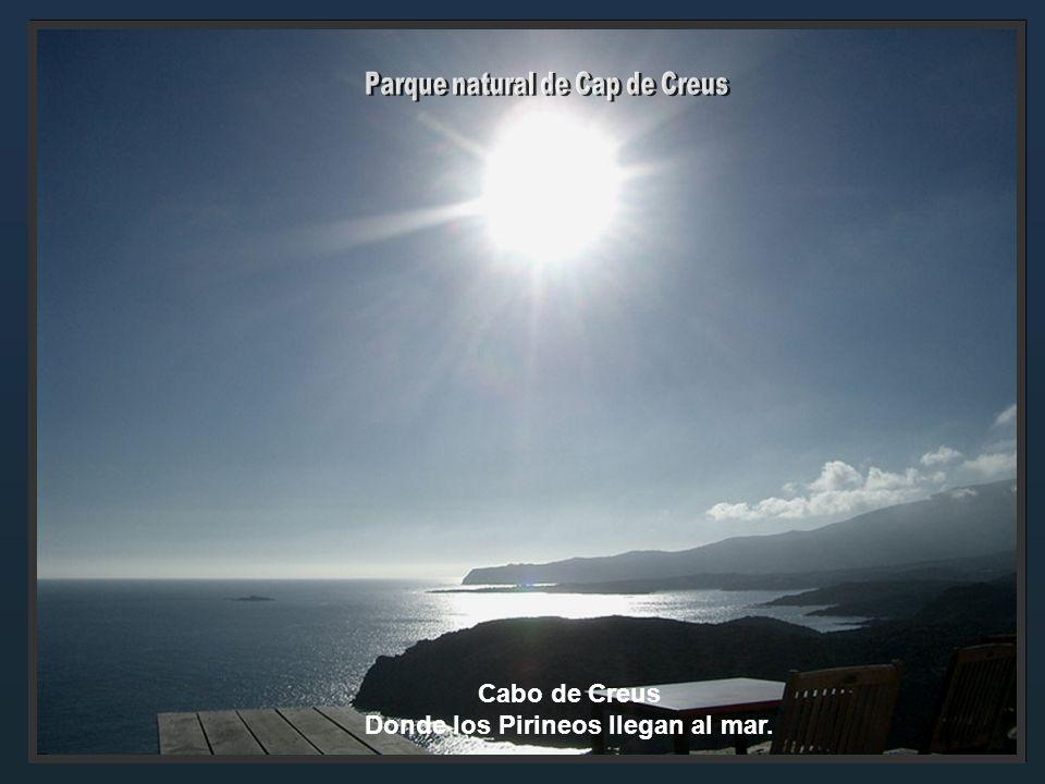 Parque natural de Cap de Creus Donde los Pirineos llegan al mar.