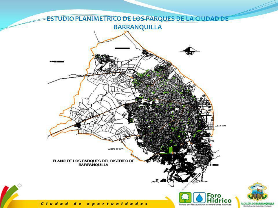 ESTUDIO PLANIMETRICO DE LOS PARQUES DE LA CIUDAD DE