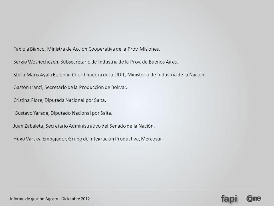 Fabiola Bianco, Ministra de Acción Cooperativa de la Prov. Misiones