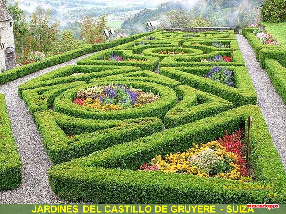 JARDINES DEL CASTILLO DE GRUYERE - SUIZA
