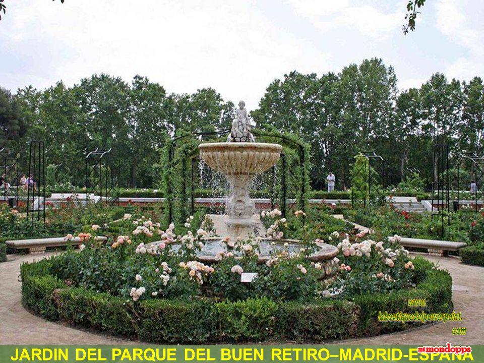 JARDIN DEL PARQUE DEL BUEN RETIRO–MADRID-ESPAÑA