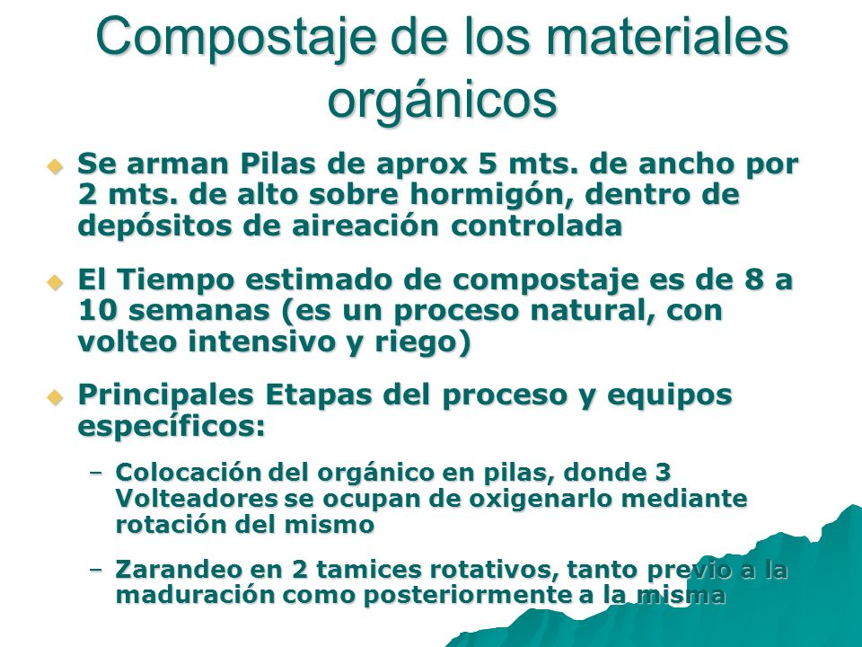 Compostaje de los materiales orgánicos