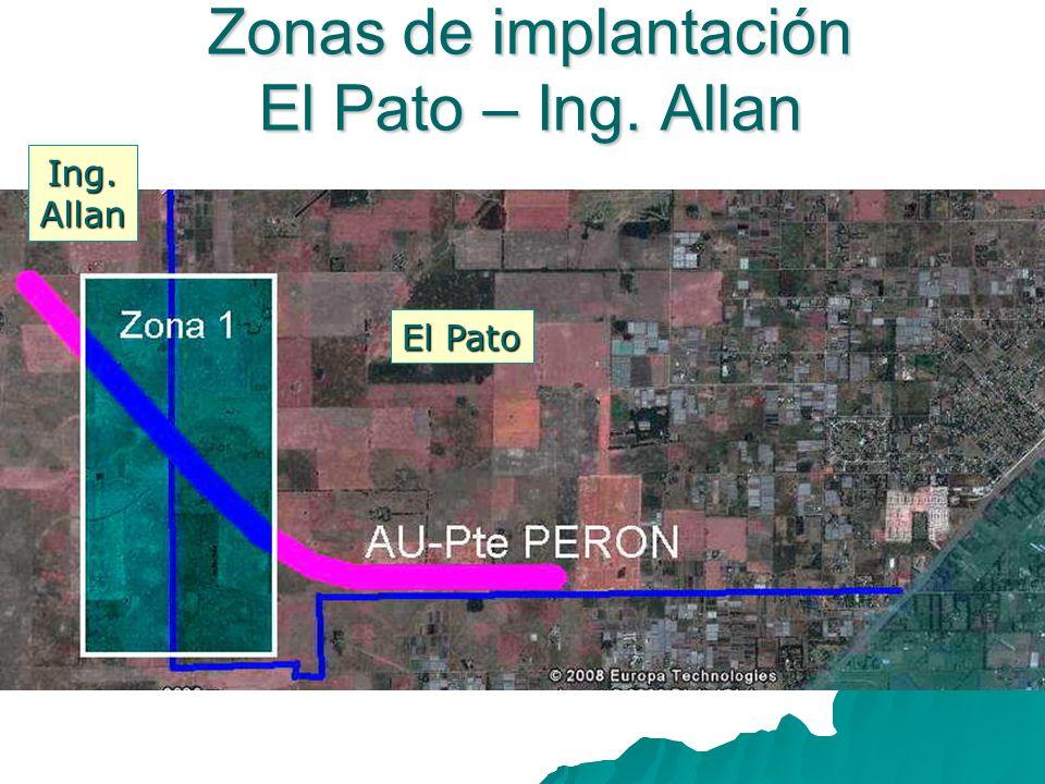 Zonas de implantación El Pato – Ing. Allan