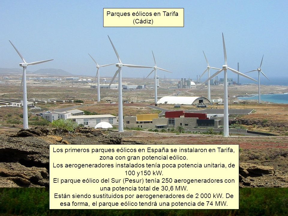 Parques eólicos en Tarifa