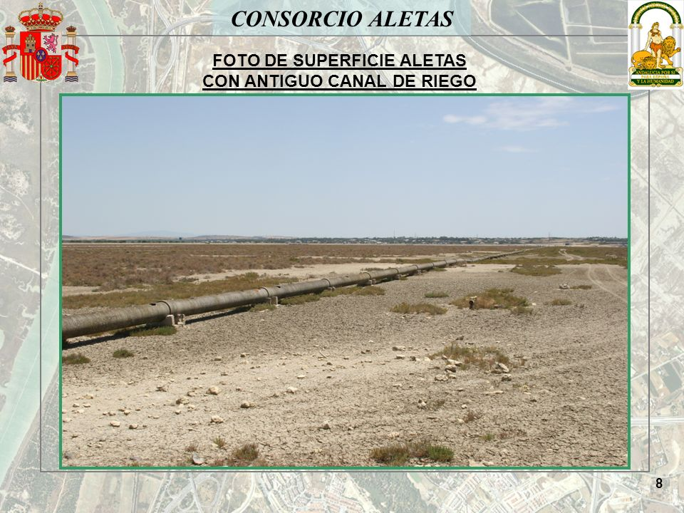 FOTO DE SUPERFICIE ALETAS CON ANTIGUO CANAL DE RIEGO