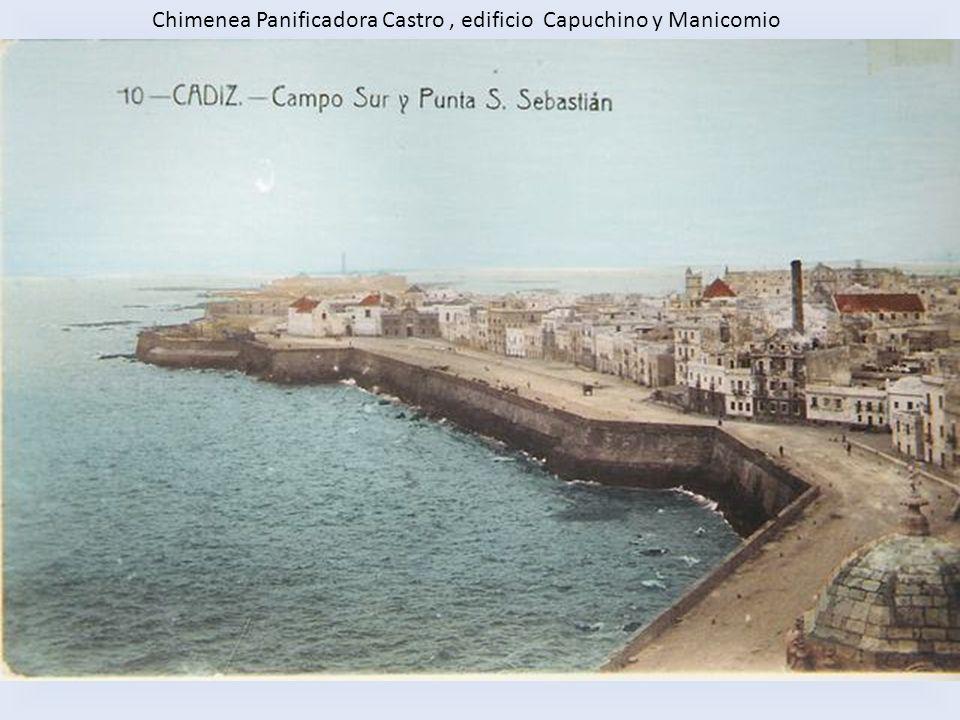 Chimenea Panificadora Castro , edificio Capuchino y Manicomio