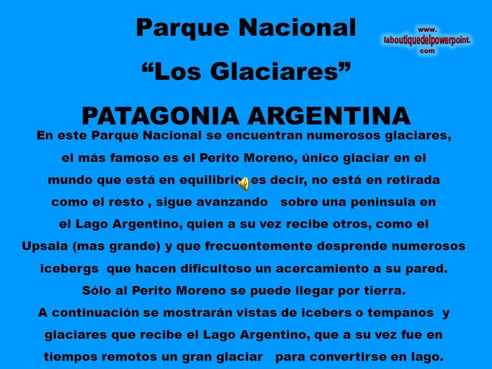 Parque Nacional Los Glaciares PATAGONIA ARGENTINA