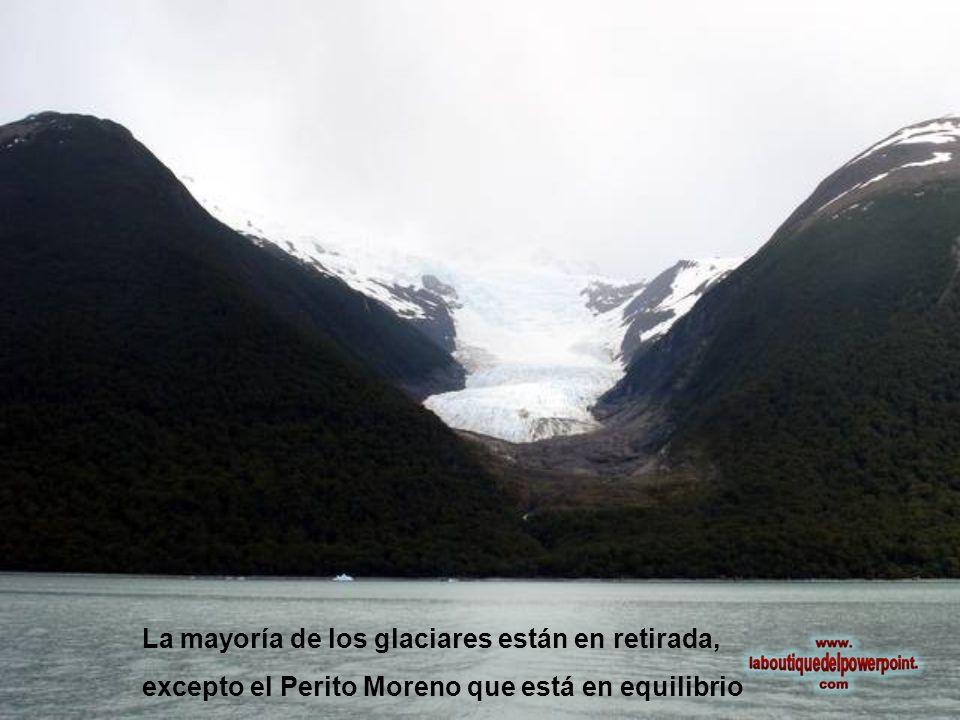 La mayoría de los glaciares están en retirada,