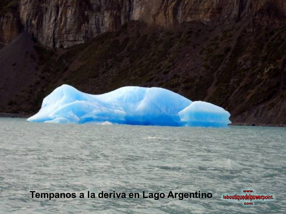 Tempanos a la deriva en Lago Argentino