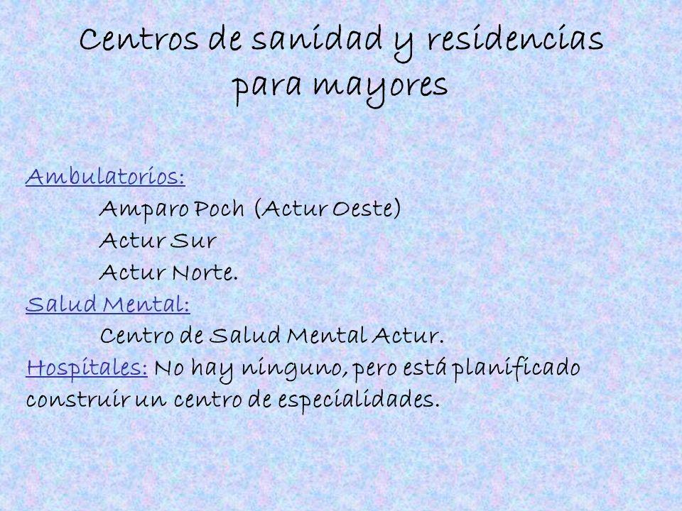 Centros de sanidad y residencias para mayores