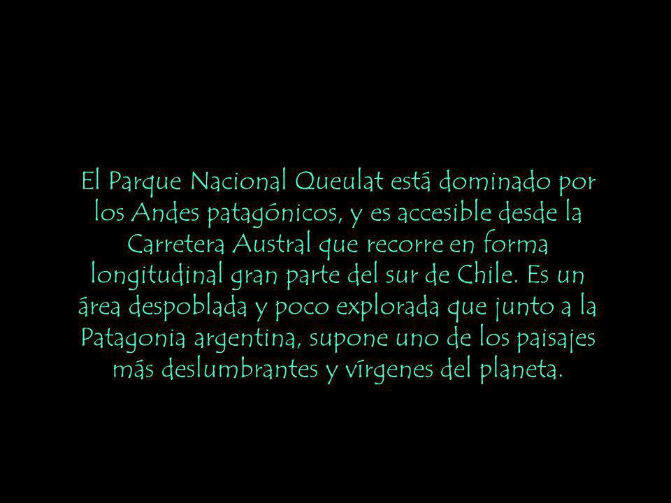 El Parque Nacional Queulat está dominado por los Andes patagónicos, y es accesible desde la Carretera Austral que recorre en forma longitudinal gran parte del sur de Chile.