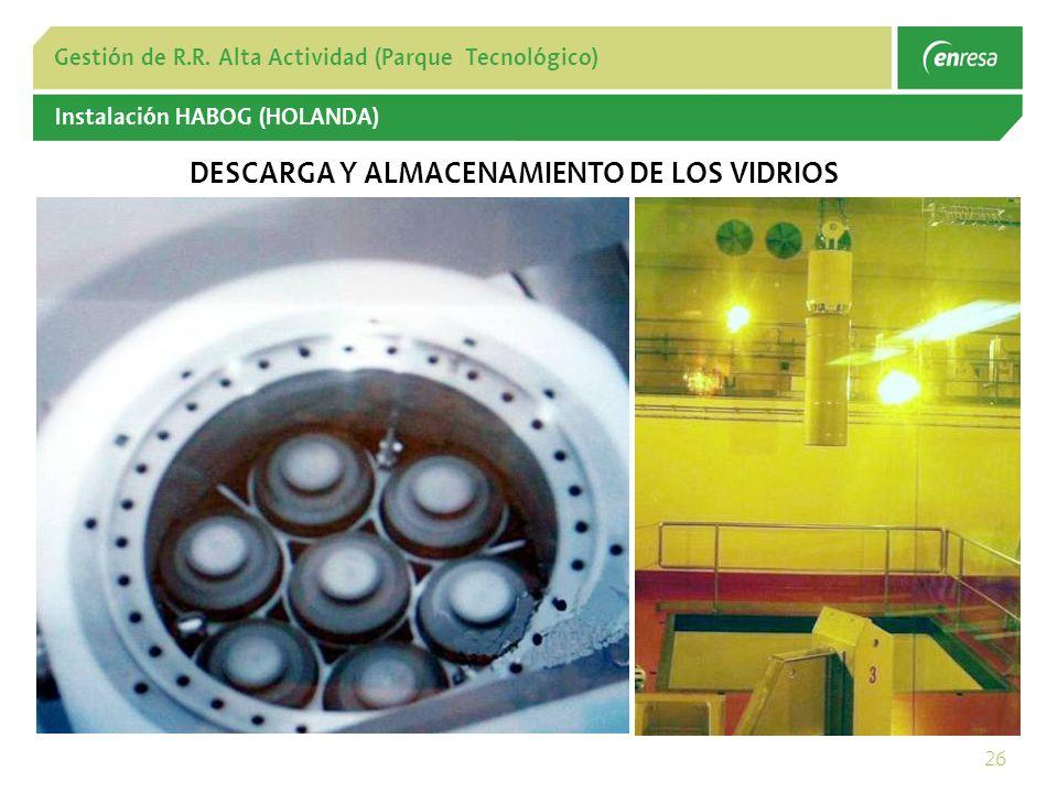 DESCARGA Y ALMACENAMIENTO DE LOS VIDRIOS