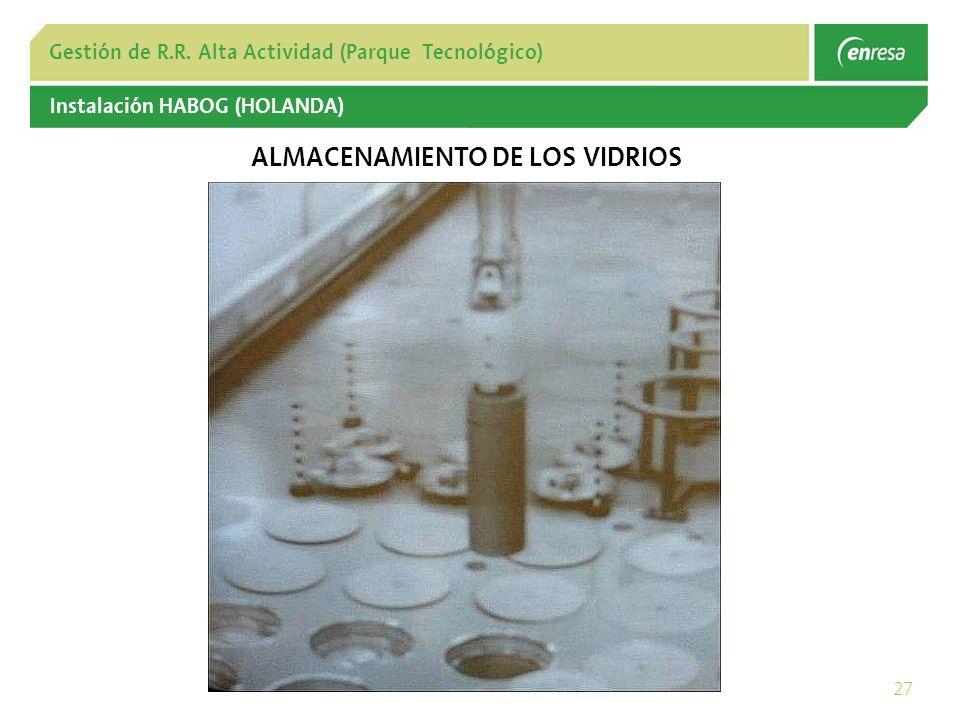 ALMACENAMIENTO DE LOS VIDRIOS