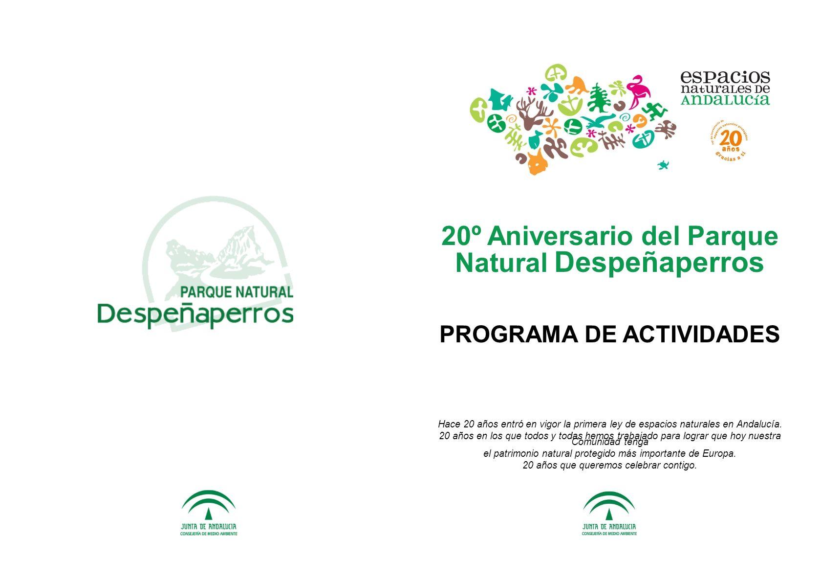20º Aniversario del Parque Natural Despeñaperros