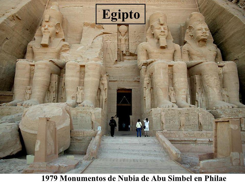 Egipto 1979 Monumentos de Nubia de Abu Simbel en Philae