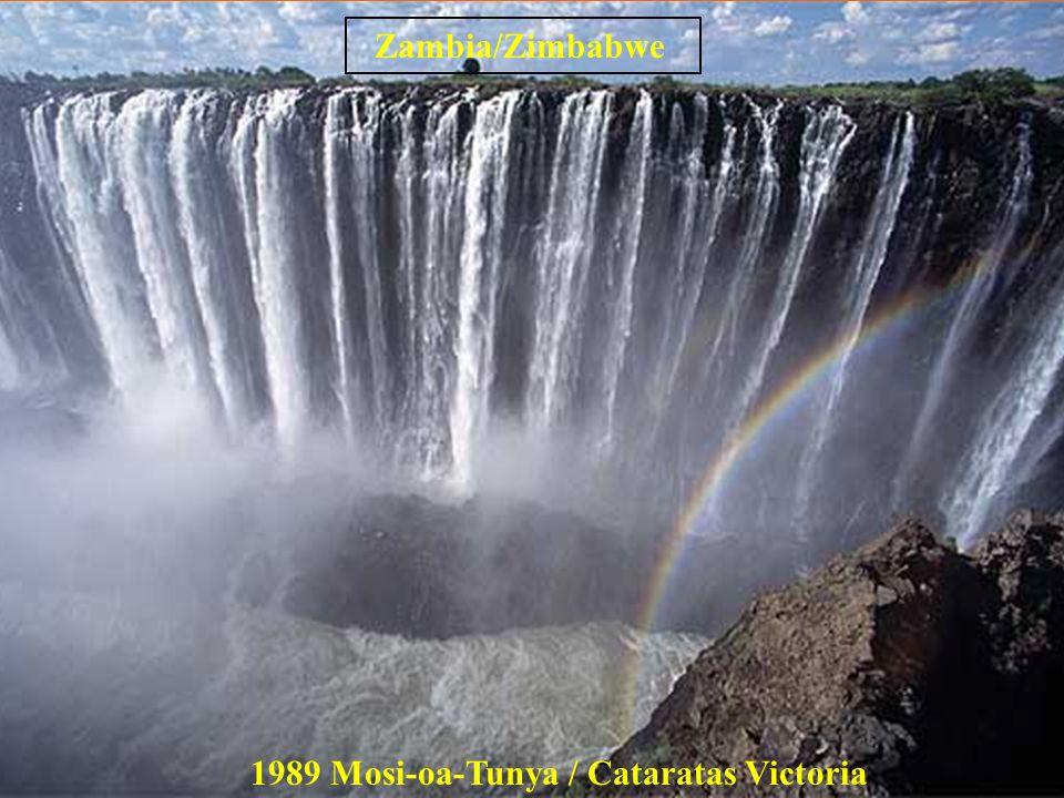 Zambia/Zimbabwe 1989 Mosi-oa-Tunya / Cataratas Victoria
