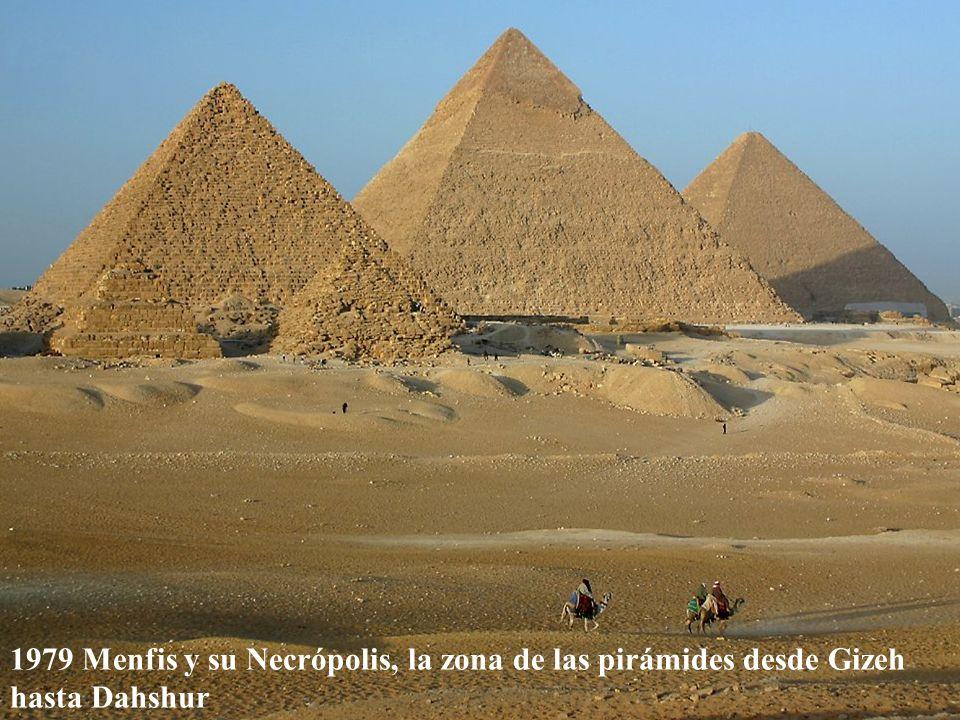 1979 Menfis y su Necrópolis, la zona de las pirámides desde Gizeh hasta Dahshur