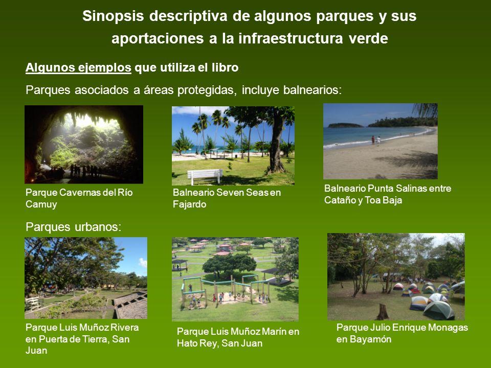 Sinopsis descriptiva de algunos parques y sus aportaciones a la infraestructura verde