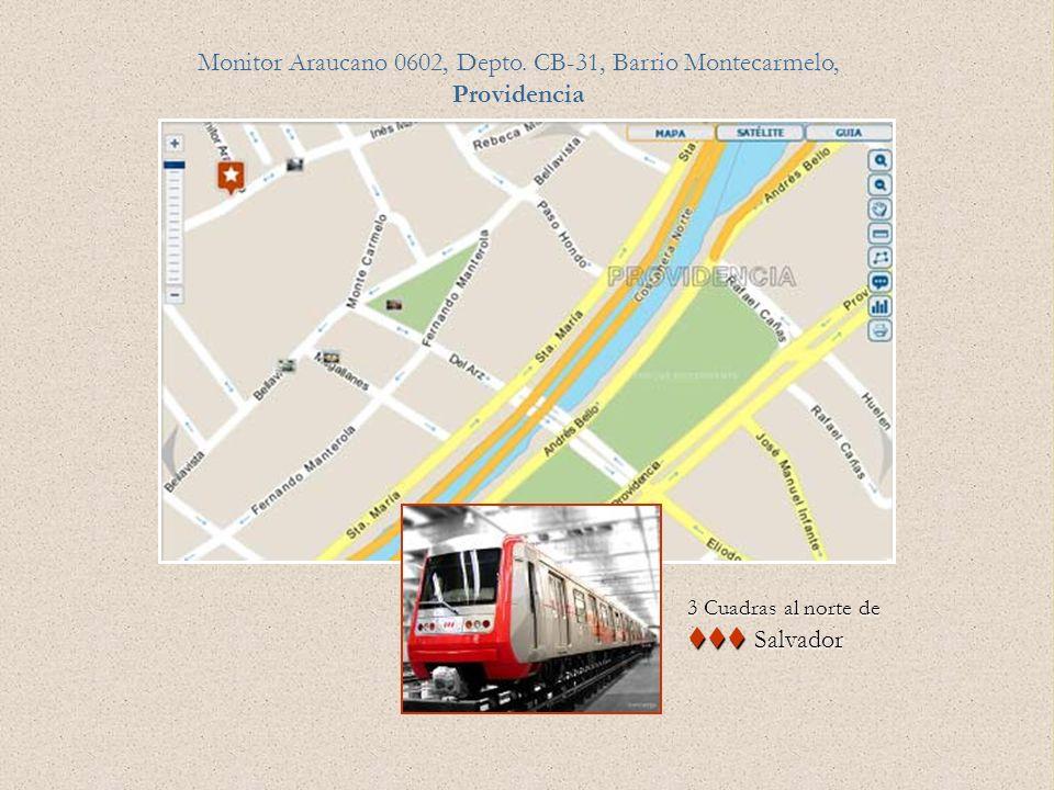 Monitor Araucano 0602, Depto. CB-31, Barrio Montecarmelo, Providencia