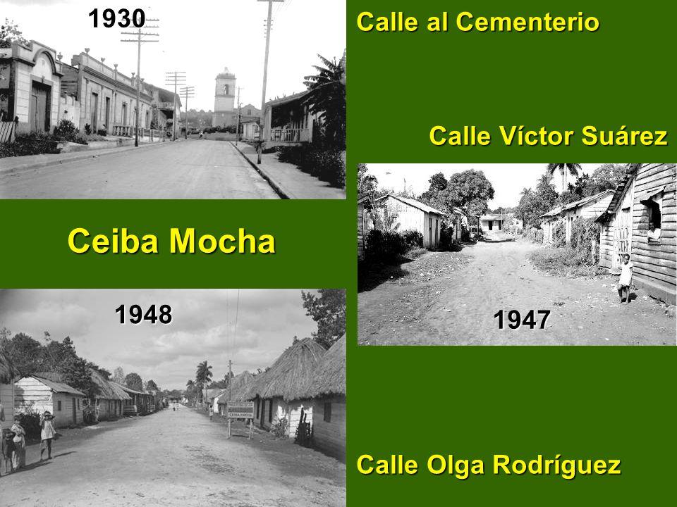 Ceiba Mocha 1930 Calle al Cementerio Calle Víctor Suárez 1948 1947