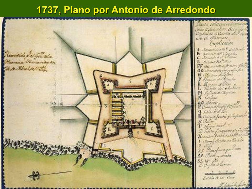 1737, Plano por Antonio de Arredondo
