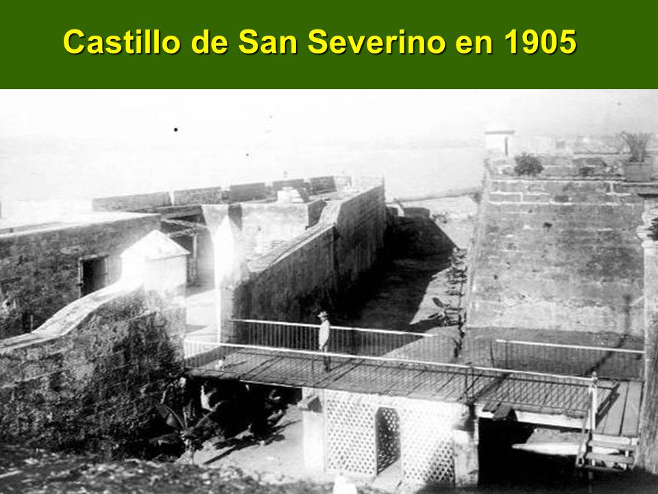 Castillo de San Severino en 1905