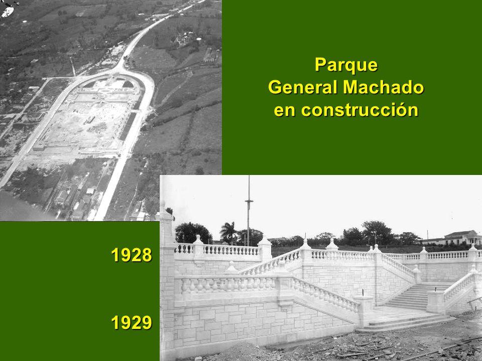 Parque General Machado en construcción