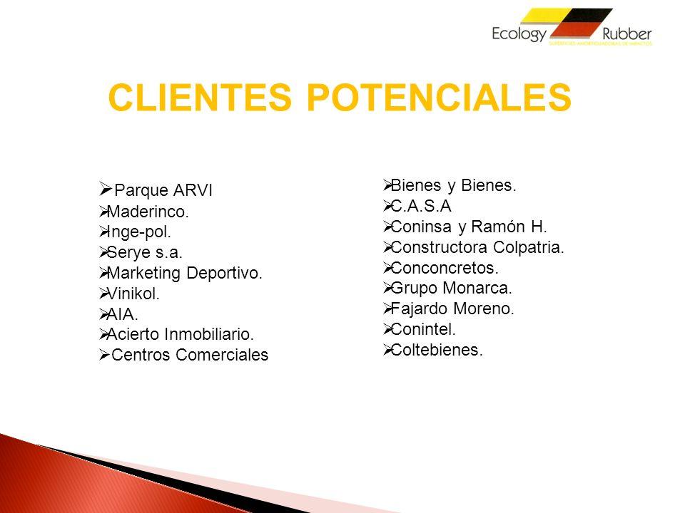 CLIENTES POTENCIALES Parque ARVI Bienes y Bienes. C.A.S.A Maderinco.