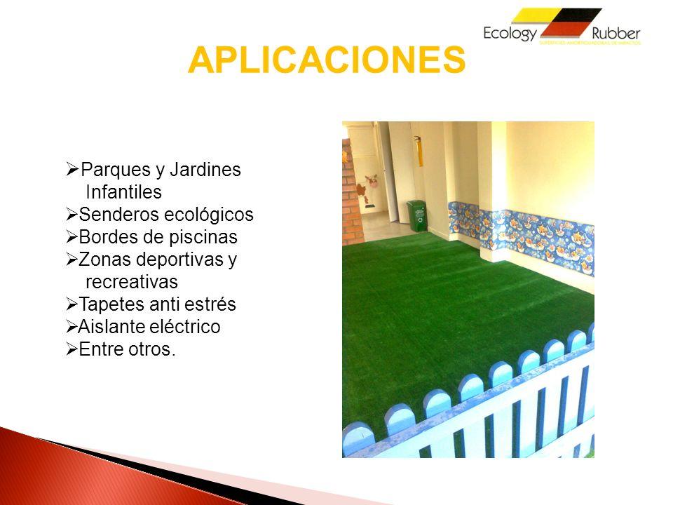 APLICACIONES Parques y Jardines Infantiles Senderos ecológicos