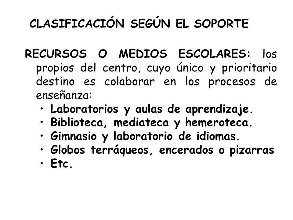 CLASIFICACIÓN SEGÚN EL SOPORTE